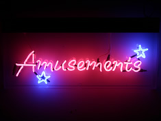 amusements neon sign for hire