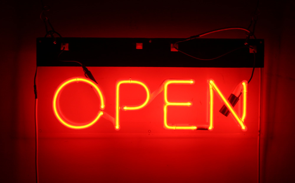 Neon Pink Open Sign The Image Kid Has It