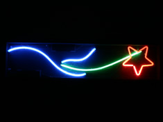 shooting star neon sign