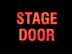 stage door lightbox to hire